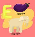 letter e from children s alphabet vector image