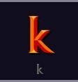 letter k like bright monogram emblem web icon vector image vector image