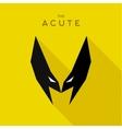 Mask Acute Hero superhero flat style icon vector image vector image
