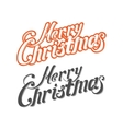 Merry Christmas letters vector image