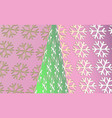 merry christmas vintage background with green tree vector image vector image