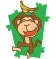 Monkey Happy vector image