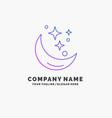 moon night star weather space purple business vector image vector image
