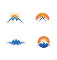 Mountain nature landscape logo and symbols icons
