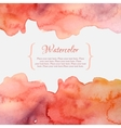 Orange and pink pastel watercolor frame vector image vector image