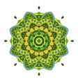 oriental beautiful ornament mandala round hand vector image