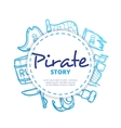 pirate icons circle composition vector image