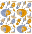 Pumpkin seamless pattern in Victorian style vector image
