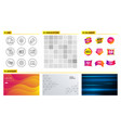 quick tips e-mail and face biometrics icons mail vector image