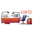 radio station studio interior stuff set clip art vector image vector image