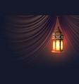 ramadan kareem lantern realistic curtain vector image vector image