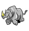 Rhino Run vector image vector image