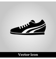 Running Shoe Icon on grey Background vector image vector image