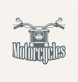 sale and rental motorcycles vector image vector image