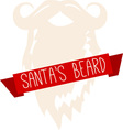 Santas Beard vector image vector image