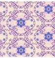 seamless pink blue floral pattern vector image vector image