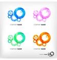 set of abstract circle elements vector image vector image