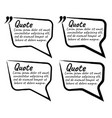 set of quote blank with text icon and label vector image