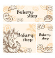 set of vintage bakery banners vector image vector image