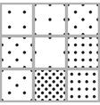 set the seamless pattern floorball balls vector image vector image