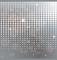 silver halftone background template vector image vector image