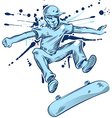 skater hand draw vector image
