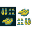 sneakers drawings color vector image vector image