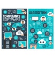 software technology banner of internet business vector image
