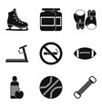 sport supplements icons set simple style vector image vector image