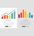 statistic charts on promo internet banners set vector image vector image