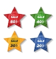 Summer sale star stickers vector image vector image