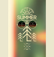 summer typographical poster on blurry background vector image vector image