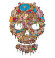 sweet cookies skull vector image