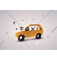 Taxi typographic modern poster with taxi cab vector image vector image