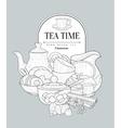 Tea Time Vintage Sketch vector image vector image