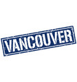 vancouver blue square stamp vector image vector image