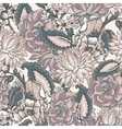 Vintage floral baroque seamless pattern vector image vector image
