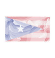 watercolor flag of puerto rico vector image vector image