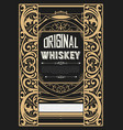whiskey label with old ornaments vector image vector image
