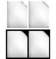 white papers vector image vector image