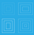 white square blue background geometric shapes vector image