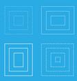 white square blue background geometric shapes vector image