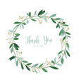 wreath of flowers in romantic white backgroun vector image vector image