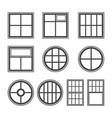 window icon set symbol vector image