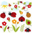 Ladybug Set vector image