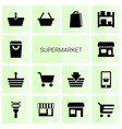 14 supermarket icons vector image vector image