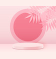 abstract scene background cylinder podium on pink vector image vector image