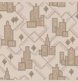 Abstract urban seamless pattern landscape with