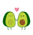 avocado family mother father holding hands pink vector image