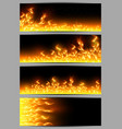 banners with tongues of flame vector image
